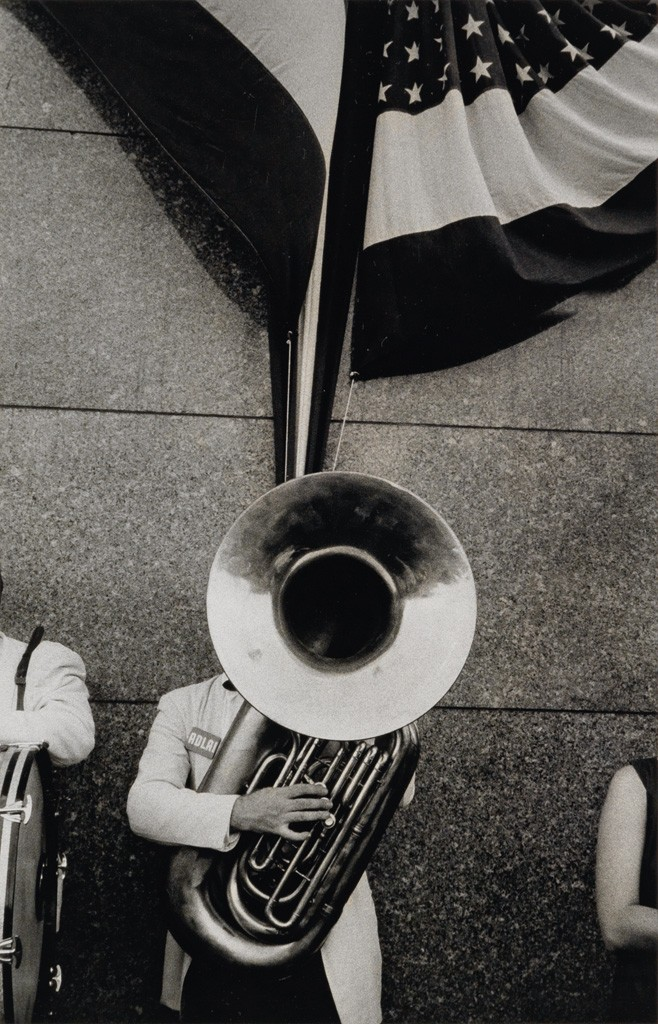 Lot 250: Robert Frank, Political rally, Chicago, silver print, 1956, printed 1970s. Estimate $60,000 to $90,000.