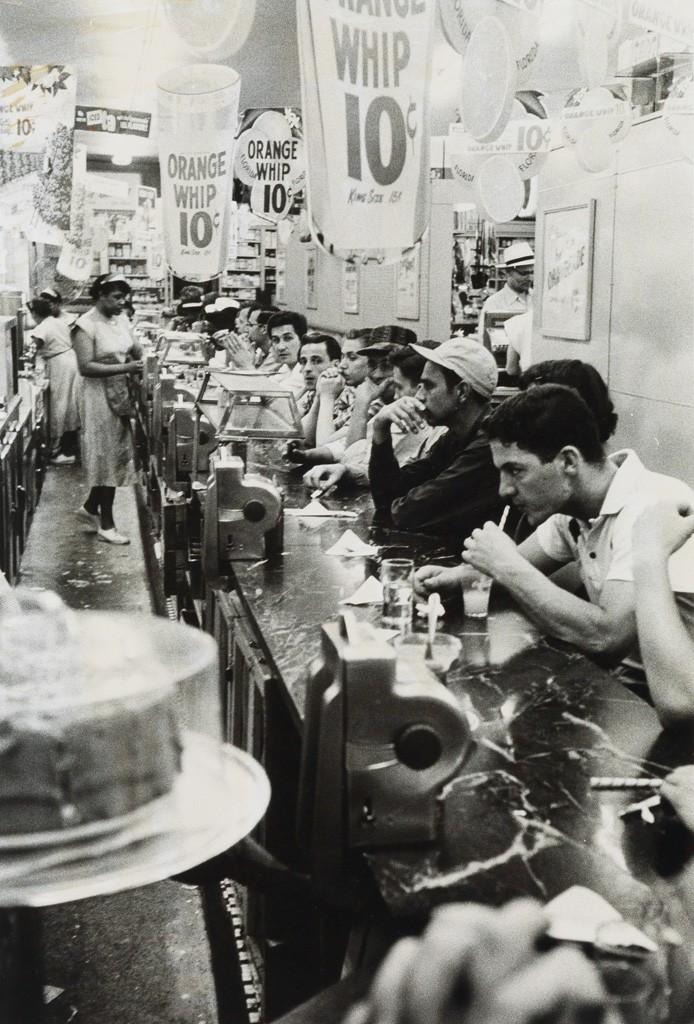 Lot 251: Robert Frank, Detroit (drugstore), silver print, 1955, printed 1970s. Estimate $20,000 to $30,000.