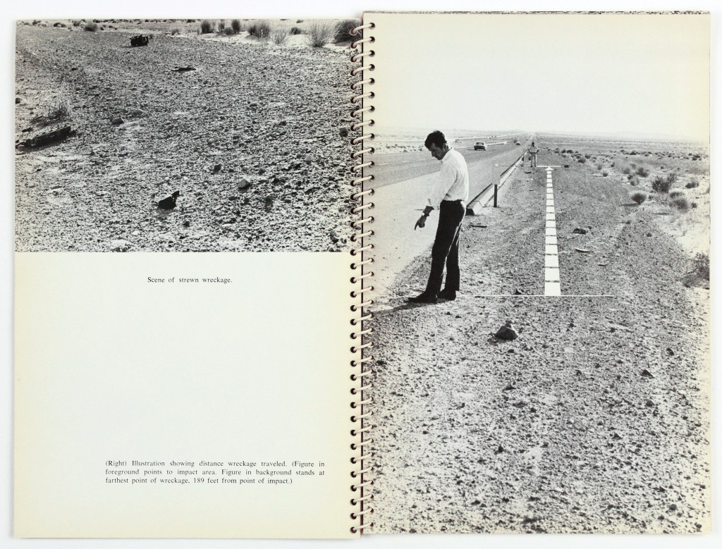 Lot 413: Ed Ruscha, Royal Road Test, one of fourteen photobooks, 1967. Estimate $20,000 to $30,000.