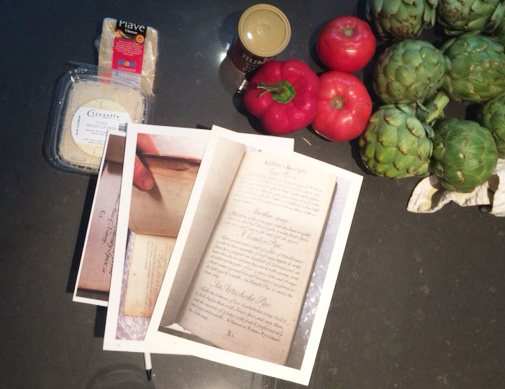 Three of Kidders recipes and some ingredients