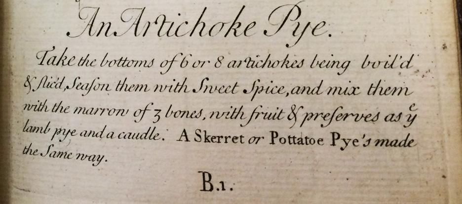 An Artichoke Pye