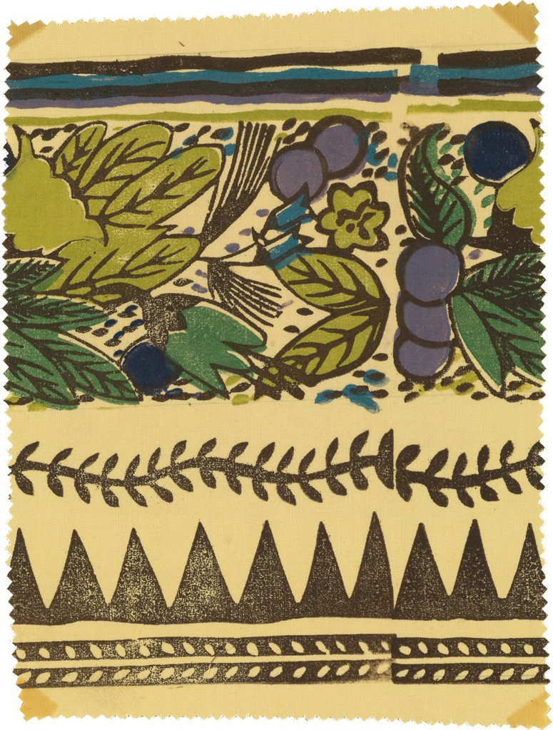 184: Applied Design: Block Printed Textiles, Milwaukee WPA Handicraft Project, 1937-38. Estimate $4,000 to $6,000.