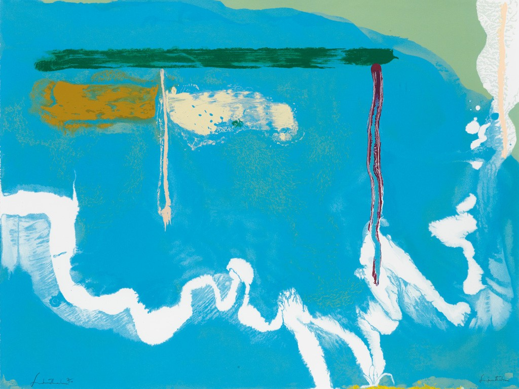 Helen Frankenthaler, Skywriting, color screenprint, 1997. Sold for $10,625.