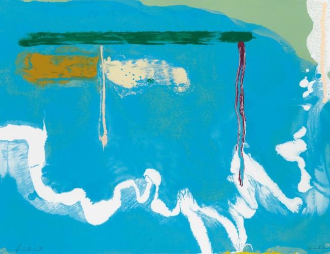 Helen Frankenthaler, Skywriting, color screenprint, 1997. Sold for $10,625.