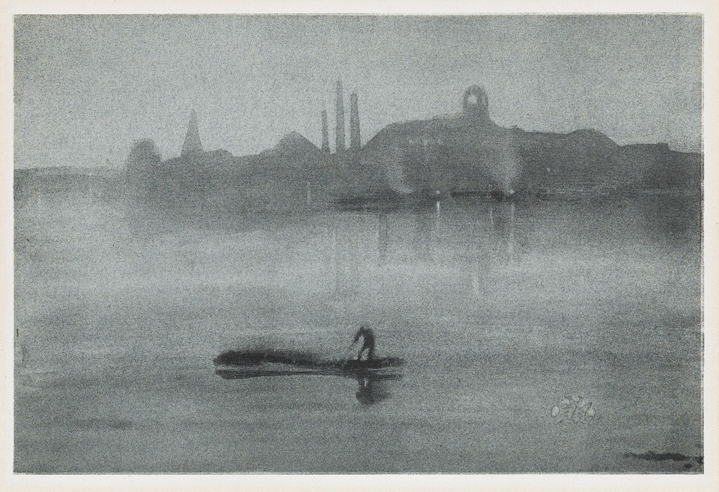 Lot 333: James A.M. Whistler, Nocturne, lithograph, 1878. Sold for $50,000.