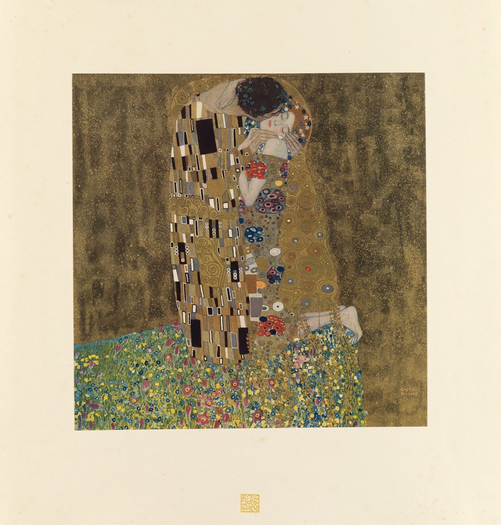 Lot 197: Gustav Klimt, Das Werk von Gustav Klimt, 50 collotype plates with ten heightened in gold and silver, Vienna & Leipzig, 1918. Sold December 1, 2016 for $60,000.
