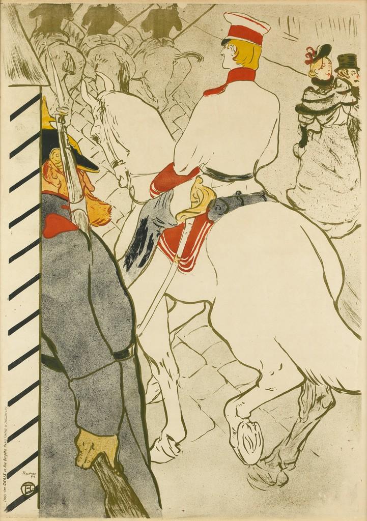 Lot 75: Henri de Toulouse-Lautrec, Babylone d'Allemagne, 1894. Estimate $30,000 to $40,000.
