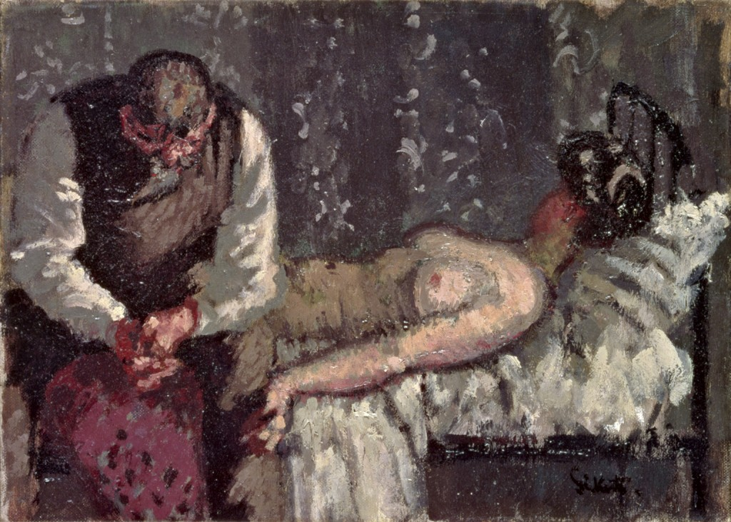 Walter Sickert, The Camden Town Murder, oil on canvas, circa 1908. Yale