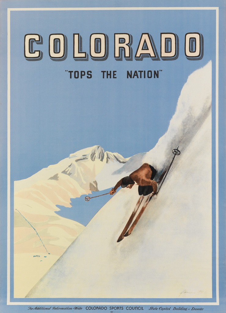"Lot 59: Colorado ""Tops The Nation,"" 1941. Estimate $2,000 to $3,000."