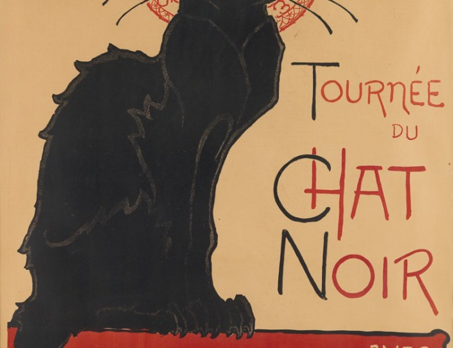 Lot 293: Théophile-Alexandre Steinlen, Tournée du Chat Noir 1896. Sold March 16, 2017 for $30,000, a record for the work.