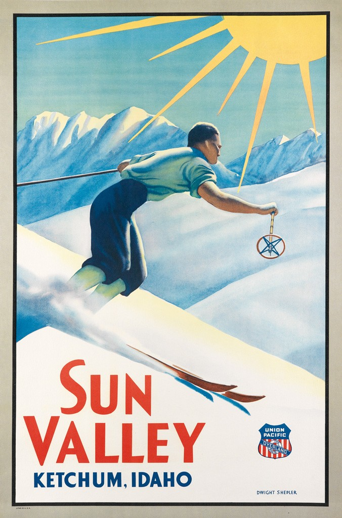 Lot 62: Dwight Clark Shepler, Sun Valley / Ketchum, Idaho, circa 1940. Estimate $8,000 to $12,000.