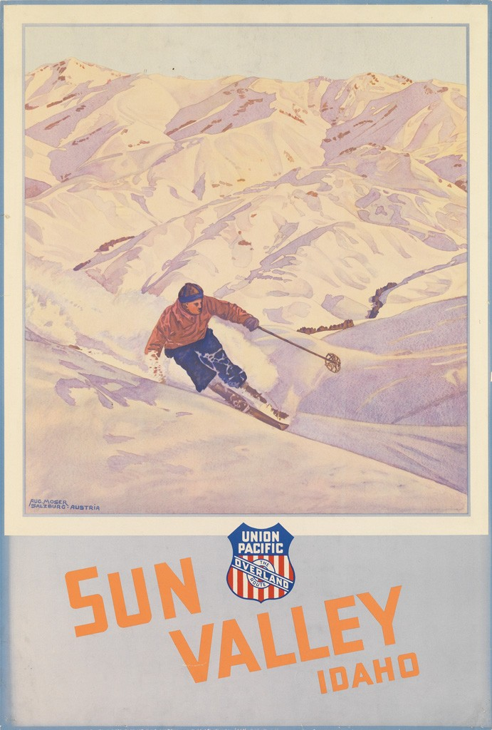 Lot 60: Augustus Moser, Sun Valley Idaho / Union Pacific, circa 1936. Estimate $2,000 to $3,000.