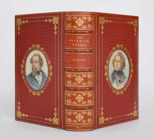 2140-49: Charles Dickens, The Pickwick Paper, with 43 illustrations, first edition, in Cosway-style binding, London, 1837. Sold April 3, 2008 for $7,800.