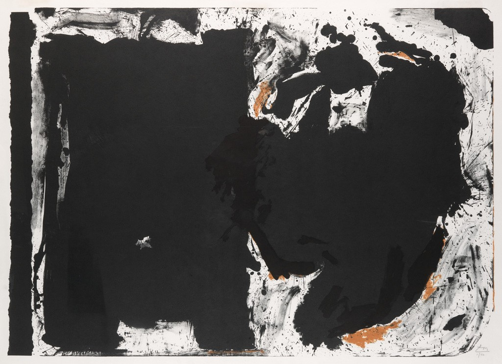 2431-17: Robert Motherwell, Lament for Lorca, color lithograph, 1981-82. Sold November 15, 2016 for $20,000.