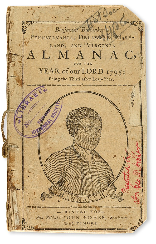 Lot 150: Benjamin Banneker's Almanac for 1795, Baltimore, 1794. Sold March 30, 2017 for$55,000.