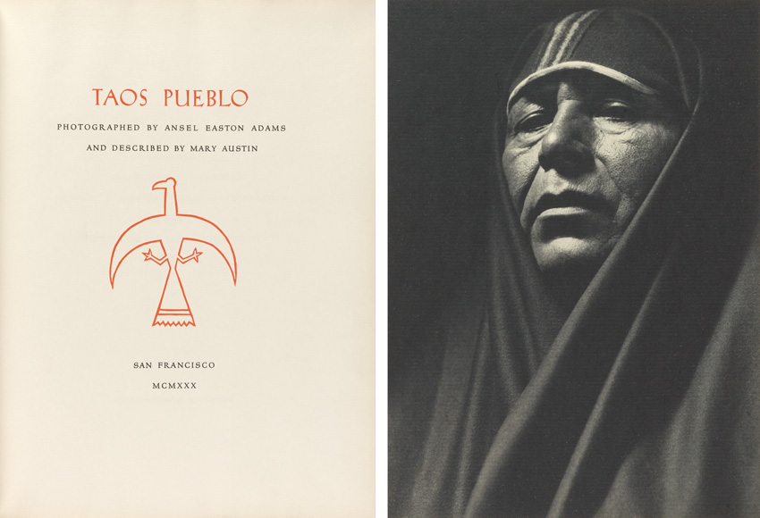 image of the colophon and a portrait from the portfolio