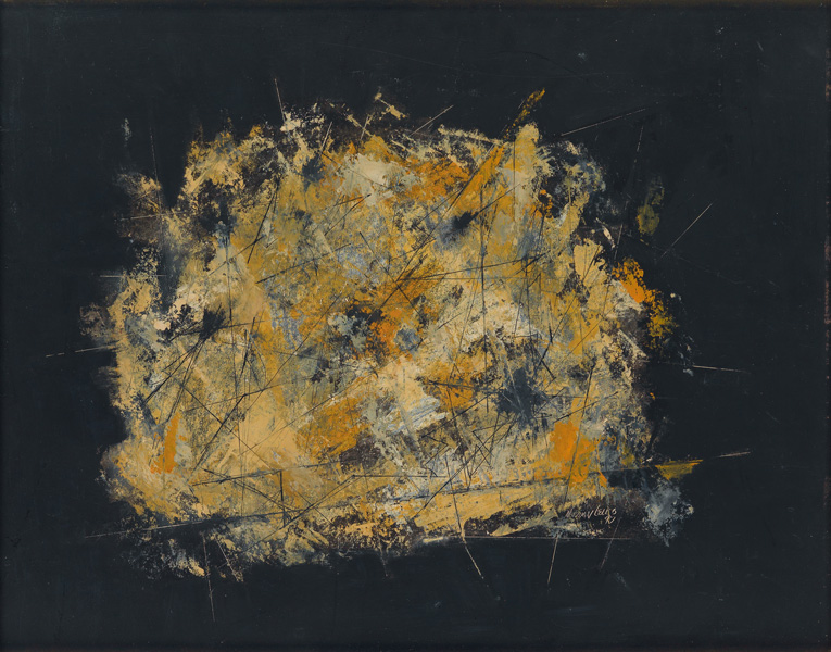 image of black and yellow abstraction by Norman Lewis