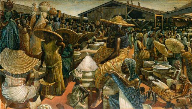 Kumasi Market by John Biggers