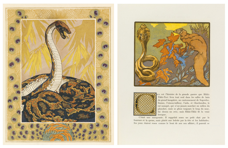 two plates from Rudyard Kipling's the Jungle Book