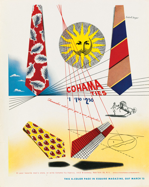 poster proof for a tie advertisement by Hervert Bayer