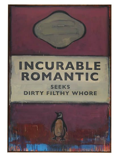 Harland Miller, Incurable Romantic Seeks Dirty Filthy Whore