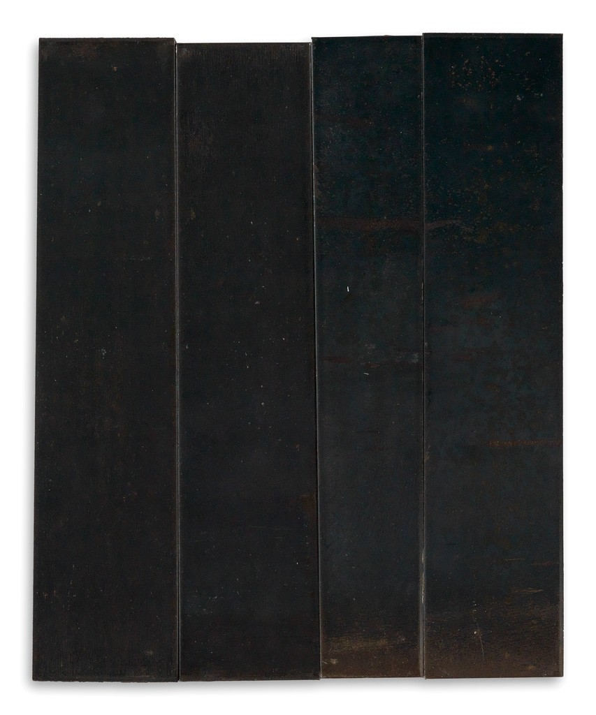 Carl Andre, Irregular Rectangle Composed of Four Unequal Parts, sculpture