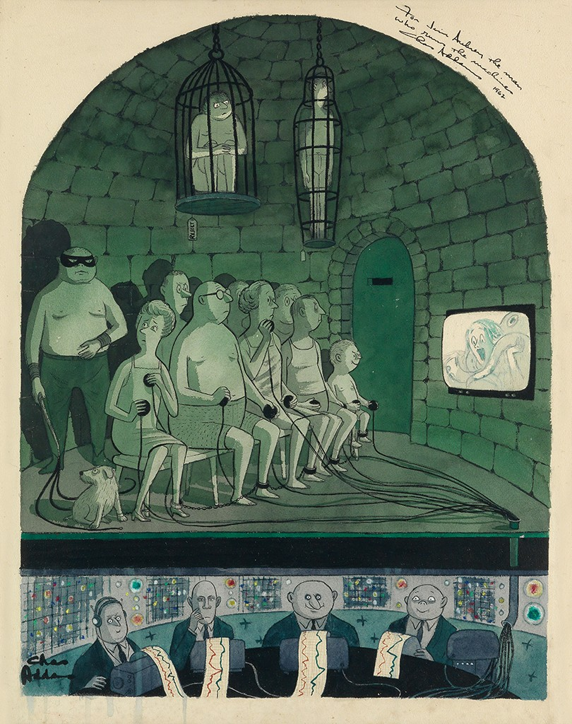 "Charles Addams, The Dark Side pf ""Little Annie"", Illustration"