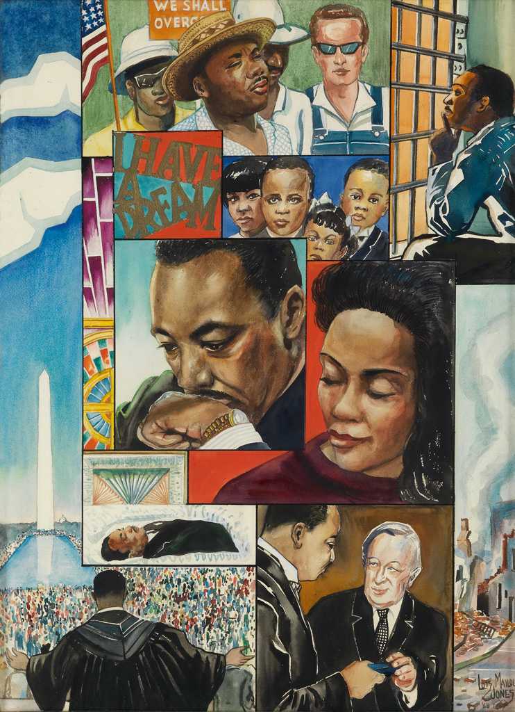 Loïs Mailou Jones, Homage to Martin Luther King , African-American Fine Art