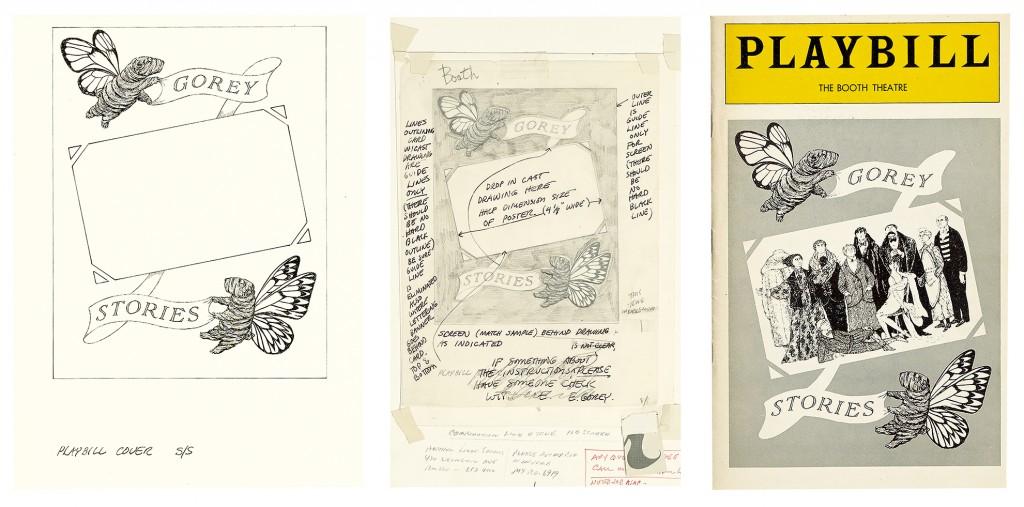 Edward Gorey, Gorey Stories, Playbill