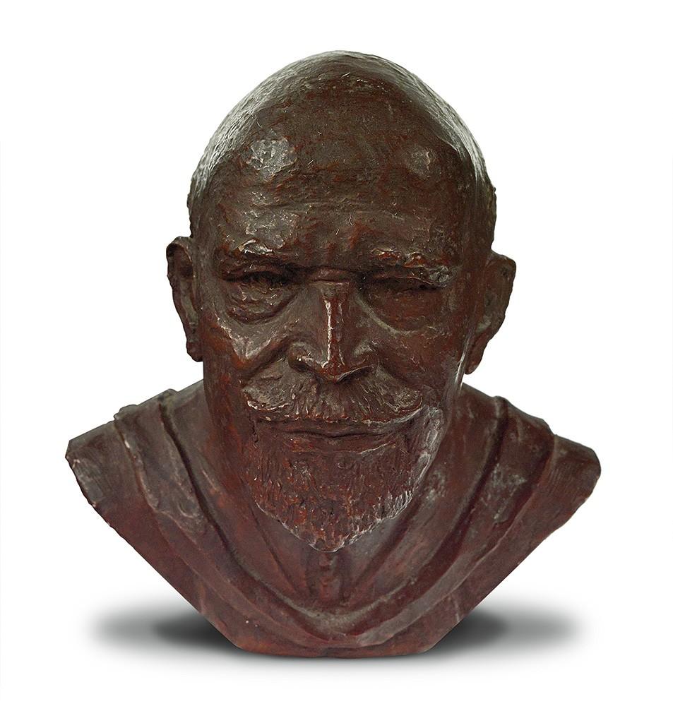 Inge Hardison, W.E.B. DuBois, anodized plaster bust with bronze finish, circa early 1960s.
