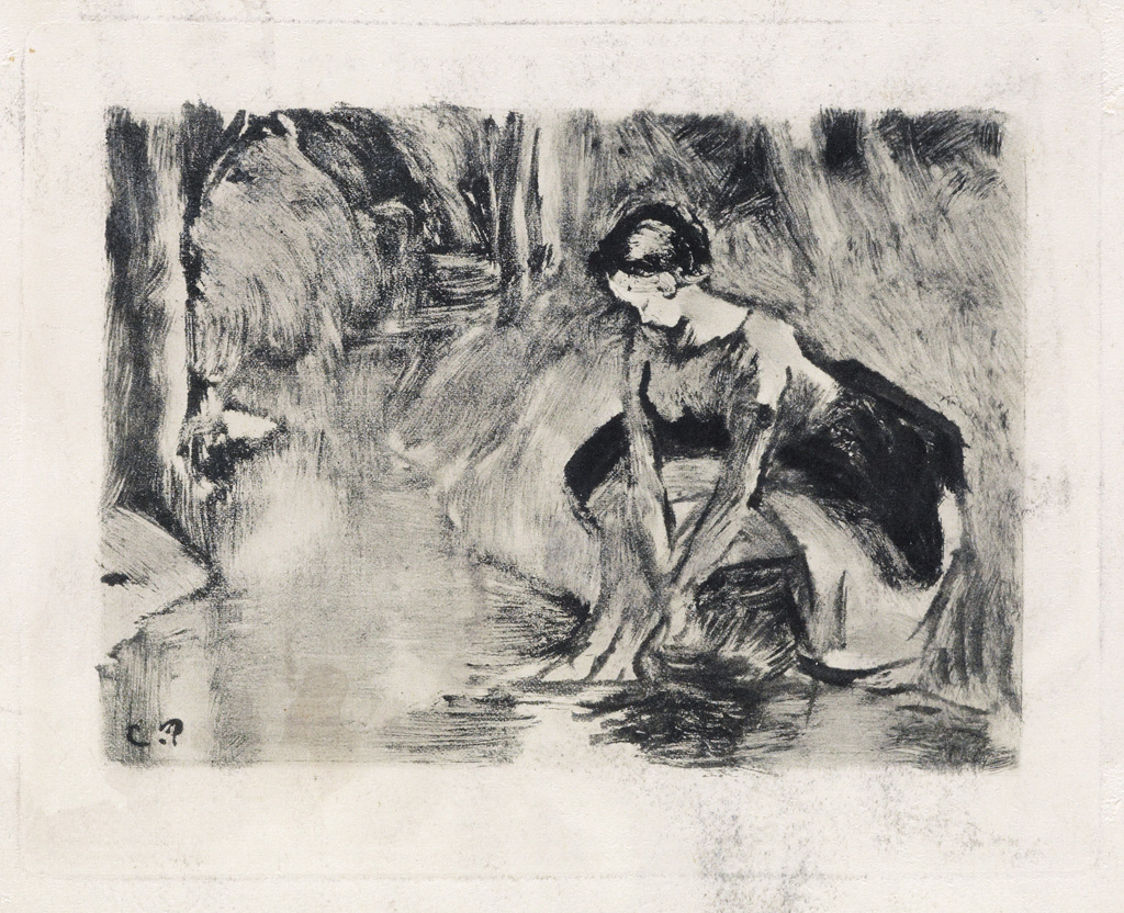 Camille Pissarro, Paysanne assise, les Pieds dans l'Eau