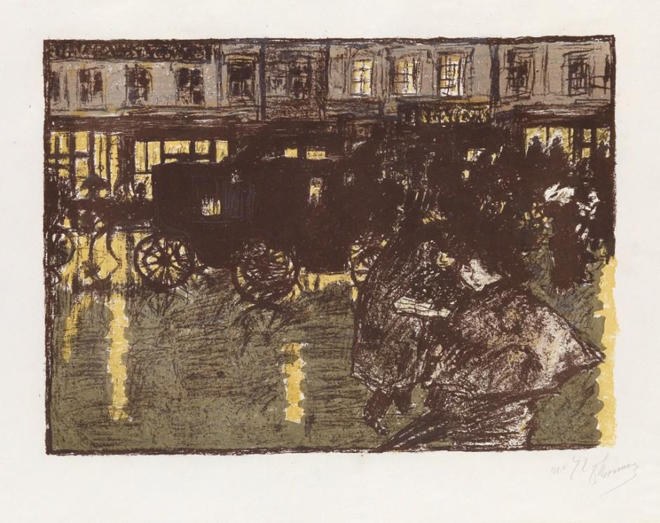 Pierre Bonnard, Rue, le Soir, sous la Pluie