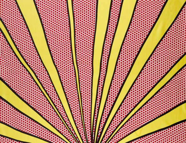 Roy Lichtenstein, Sunrise, color silk panel, 1965.