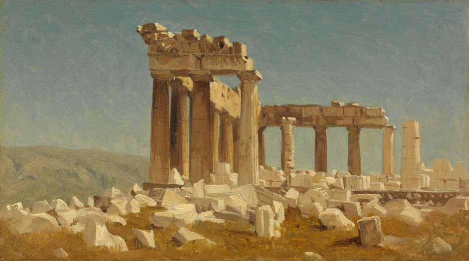 Sanford Robinson Gifford, Study of the Parthenon, oil on canvas, 1869.