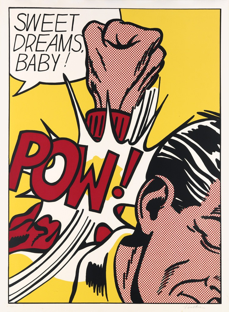 Roy Lichtenstein, Sweet Dreams, Baby!, color screenprint, 1965. Sold May 12, 2016 for $125,000.