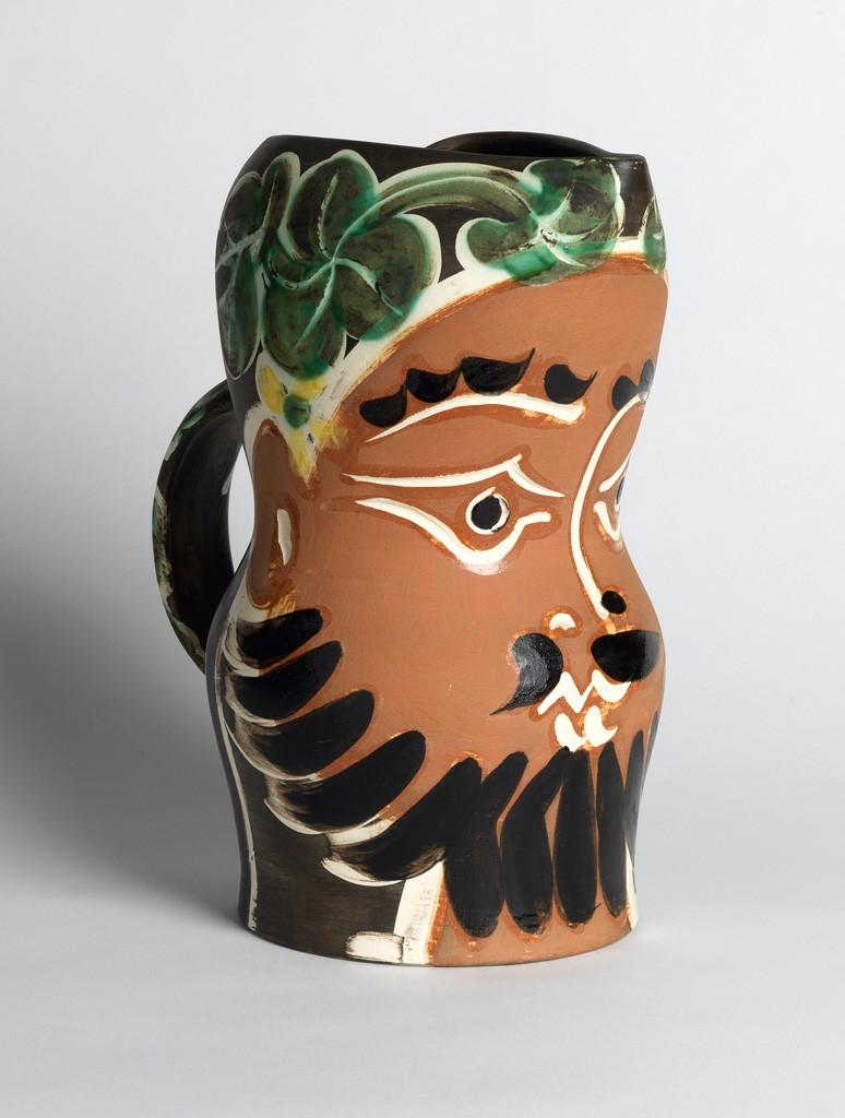 Lot 365: Pablo Picasso, Bearded Man, partially glazed ceramic, 1953. Price realized: $25,000.