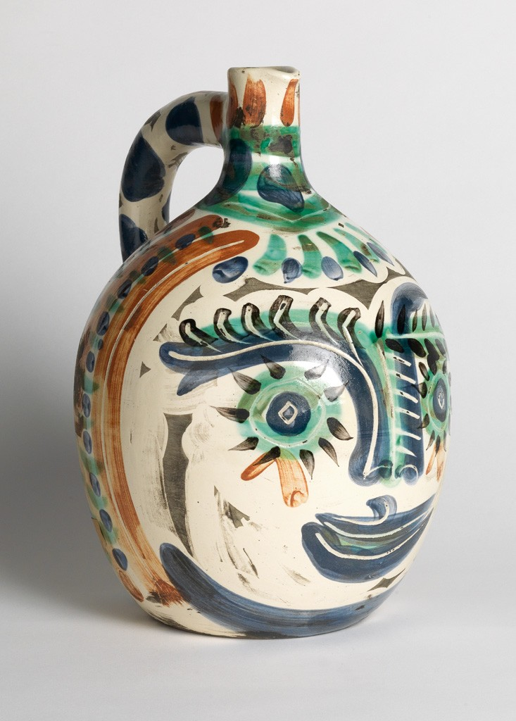 Lot 364: Pablo Picasso, Laughing-eyed Face, glazed ceramic, 1969. Price realized: $42,500.