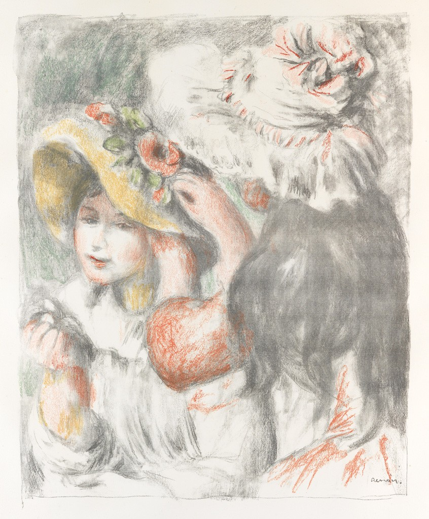 (59) Pierre-August Renoir, Le Chapeau Épinglé (2e planche), color lithograph, 1898. Estimate $30,000 to $50,000.