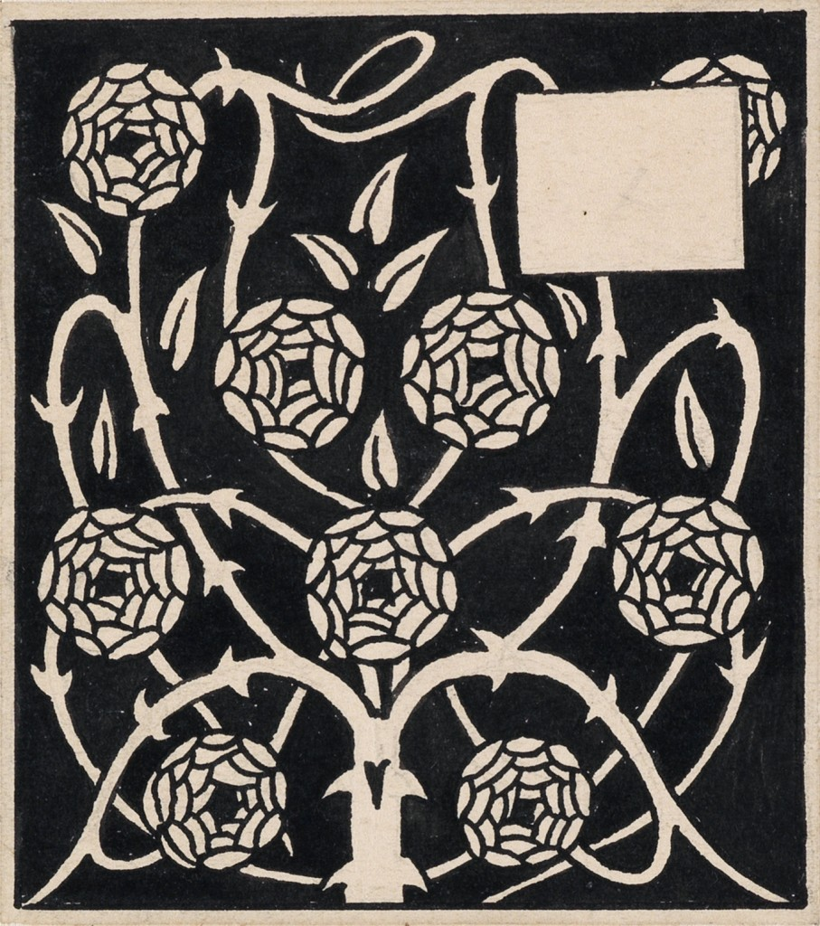 Lot 4: Aubrey Beardsley, Rose Bush, pen and ink, 1893-94. Estimate $3,000 to $4,000.