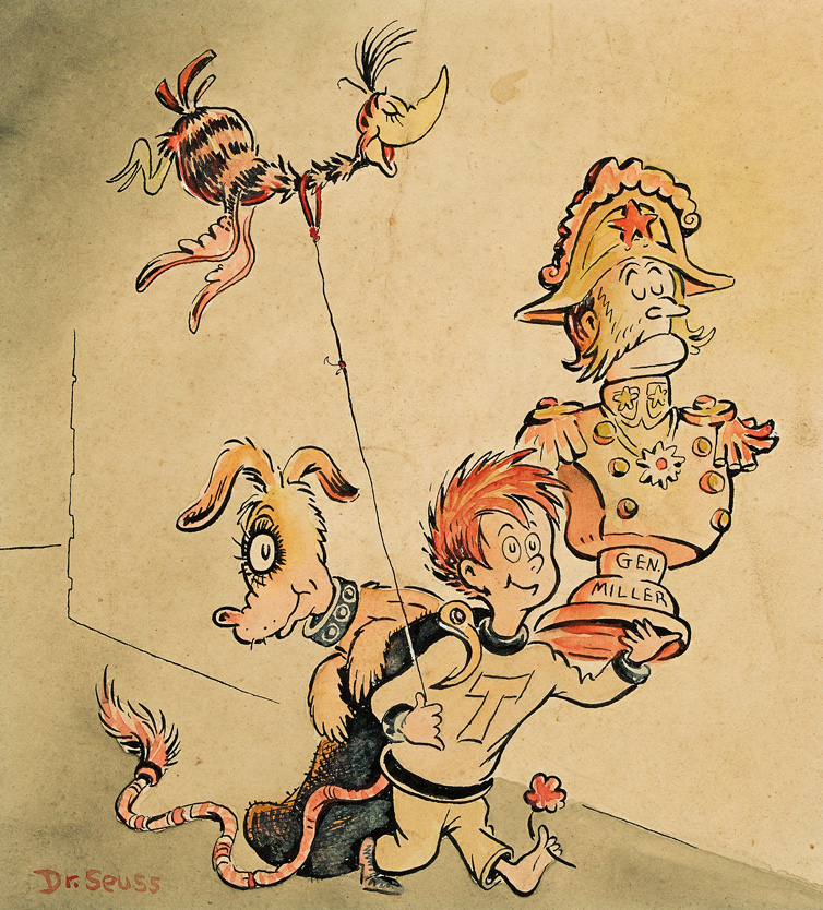 Dr. Seuss, Tadd and Todd, ink and watercolor, 1950.Sold September 29, 2016 for $23,750.