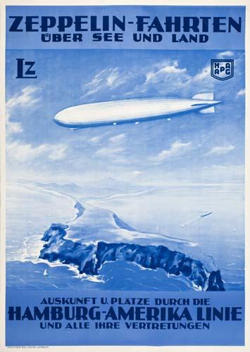 Theodore Etbauer, Zeppelin-Fahrten, circa 1930. Sold November 12, 2007 for $3,600.