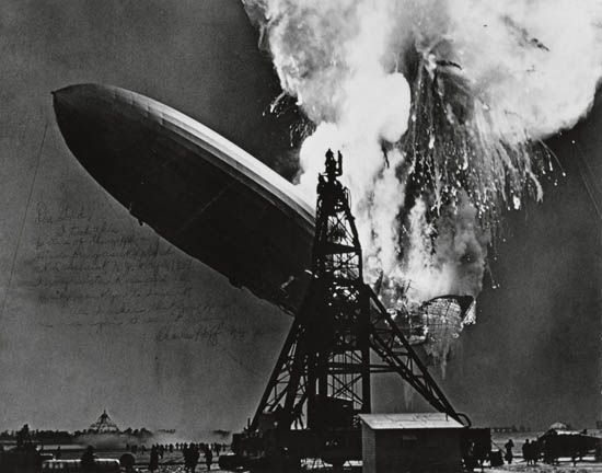 Charles Hoff, Explosion of the Hindenburg, Lakehurst, New Jersey, 1937, printed 1970s. Sold May 19, 2011 for $3,120.