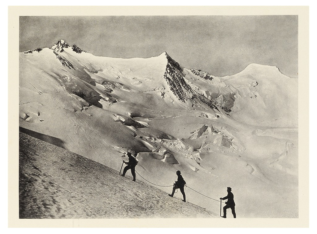 Lot 222: Oscar Johannes Ludwig Eckenstein and August Lorria, The Alpine Portfolio...The Pennine Alps from the Simplon to the Great St. Bernard, London, 1889. At auction October 18, 2016. Estimate $2,500 to $3,500.