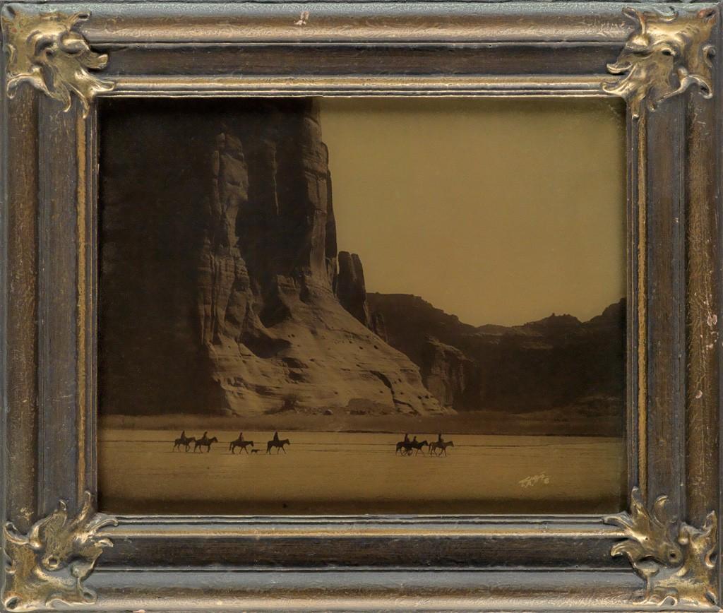 Lot 75: Edward S. Curtis, Cañon de Chelly, orotone, 1904. Estimate $6,000 to $9,000.