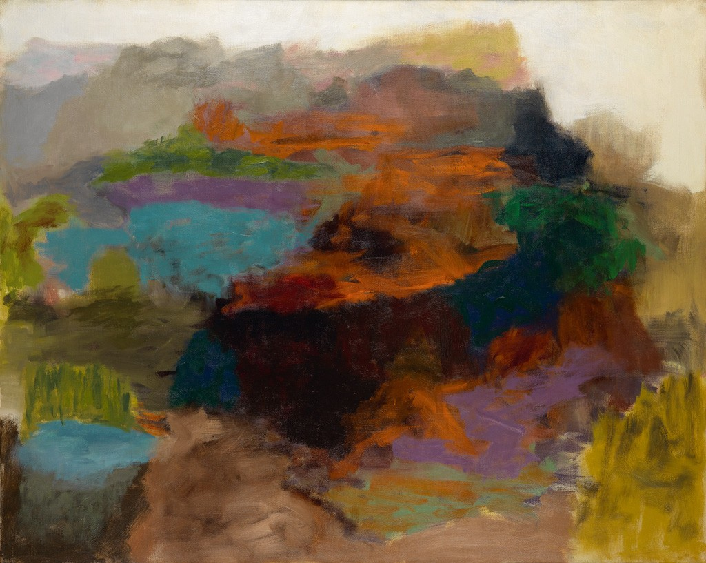 Felrath Hines, Untitled (Abstraction), oil on canvas, circa 1960. Sold October 6, 2016 for $27,500, a tied record for the artist.