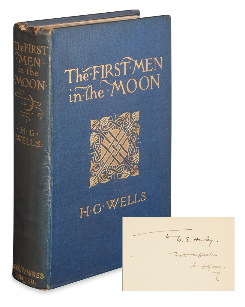 Lot 282: H.G. Wells, The First Men in the Moon, first edition, inscribed to W.E. Henley, Sold November 10, 2016 for