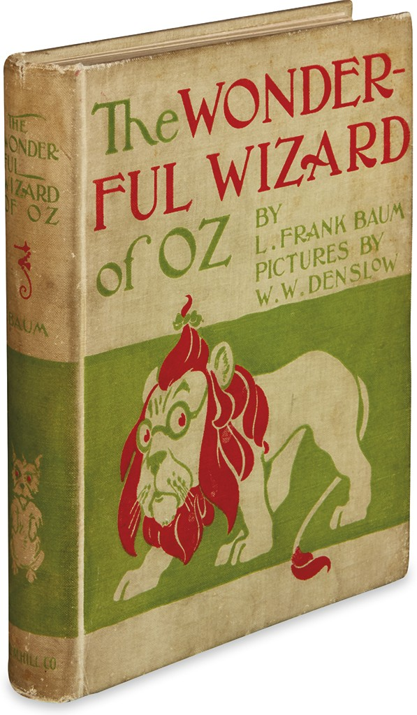 Lot 40: L. Frank Baum, The Wonderful Wizard of Oz, first edition, first issue, Chicago & New York, 1900. Sold for $23,750.