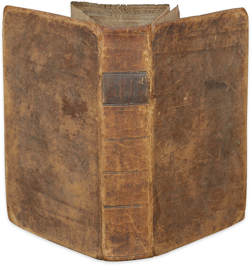 Lot 225: Joseph Smith, The Book of Mormon, first edition, Palmyra, NY, 1830. Sold November 17 for $67,500.