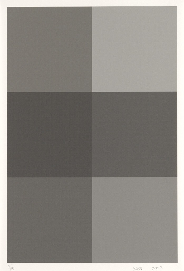 Christopher Wool, Untitled, complete set of 5 digital inkjet prints, 2003. Sold for $37,500.