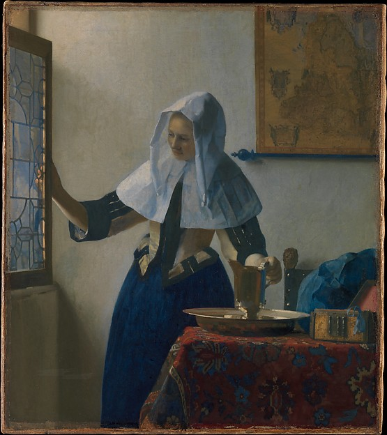 Johannes Vermeer, Young Woman with a Water Pitcher, oil on canvas, circa 1662. The Metropolitan Museum of Art, New York, Marquand Collection, Gift of Henry G. Marquand, 1889 (89.15.21).